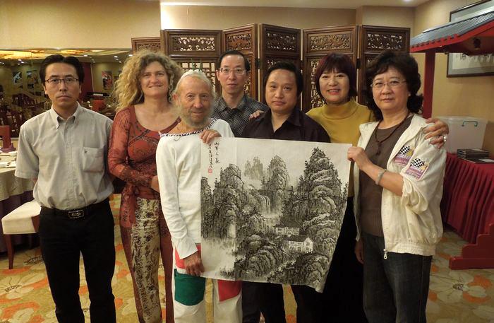 中国画家陈清泉会见西班牙大师里波列斯