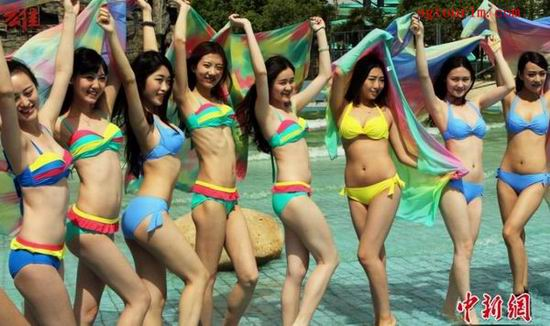 国际旅游小姐在华10周年佳丽展示