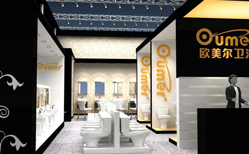 欧美尔卫浴展厅搭建设计
