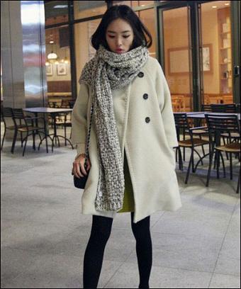 冬天如何穿衣搭配 韩国首尔街头的时尚美女街拍