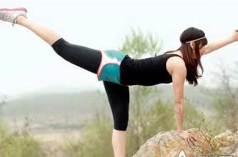 30岁女人锻炼臀部肌肉的健美操