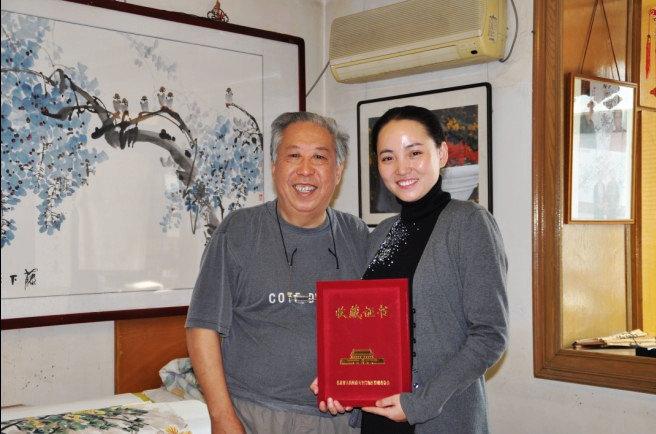 与清华大学教授,著名画家翟品善合影